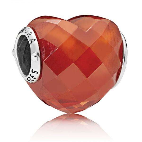 PANDORA Orange Shape of Love Charm 796563OCZ