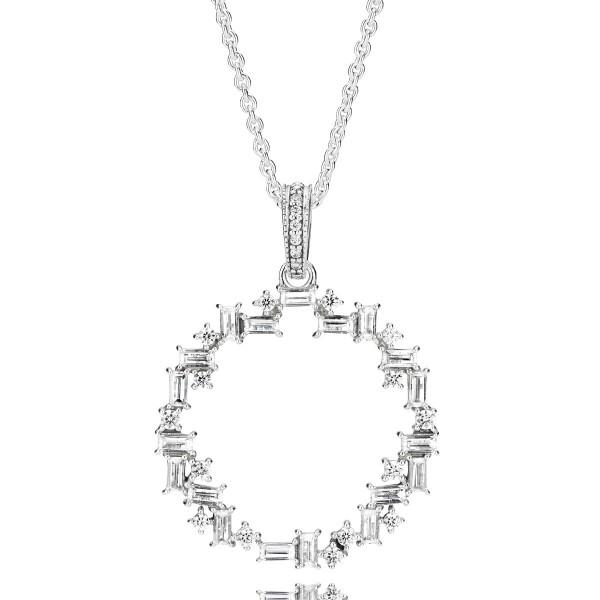 Eiswürfel PANDORA Kettenanhänger Ice cube silver pendant 397546CZ