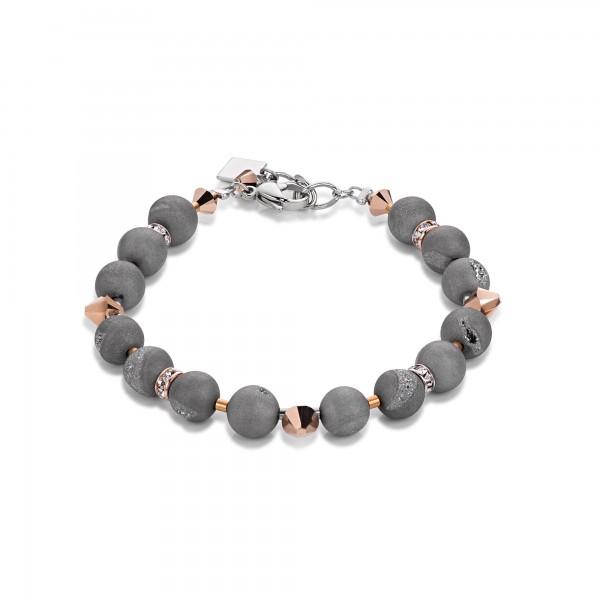Coeur De Lion Armband Swarovski® Kristalle & Achat grau 4782301200