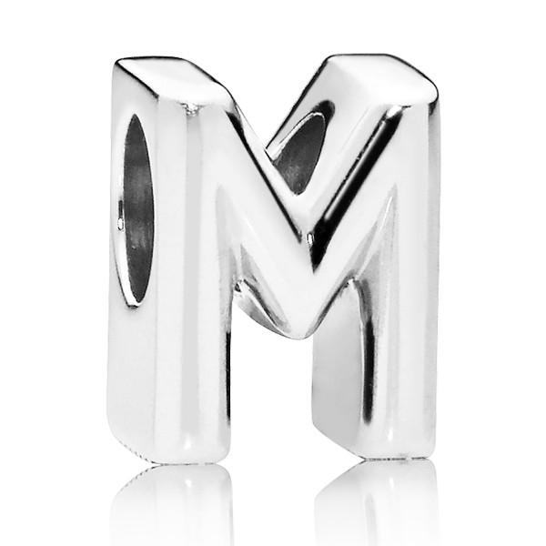 PANDORA Buchstabe Letter M silver charm 797467