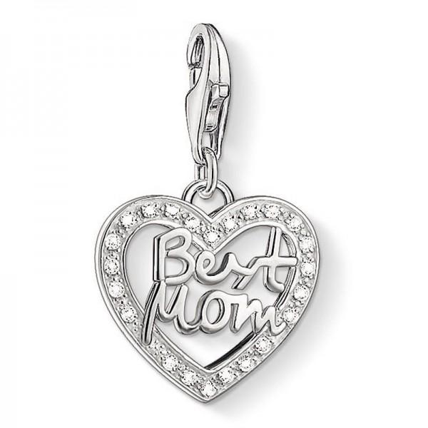 """Thomas Sabo Charm-Anhänger """"Herz BEST MOM"""" 1308-051-14"""