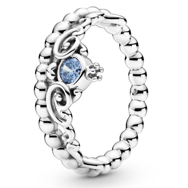 Disney Cinderella Blaue Tiara PANDORA Ring 199191C01
