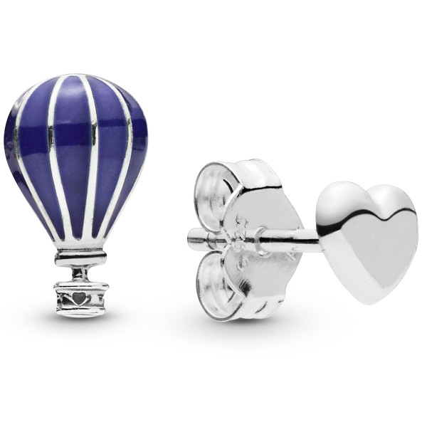 Blue Hot Air Ballon PANDORA Ohrstecker 29805EN195