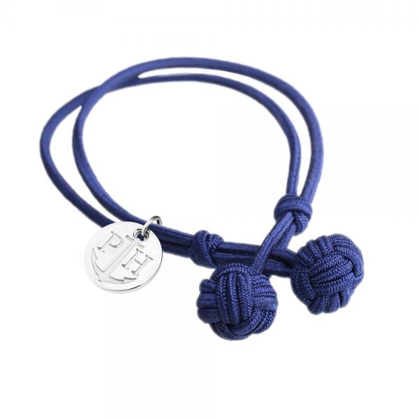 PAUL HEWITT Silber Knotenarmband Marineblau PH-KB-N-S-S