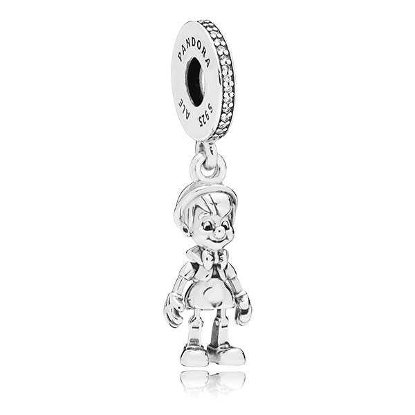 PANDORA Charm-Anhänger Disney Pinocchio silver dangle 797489CZ
