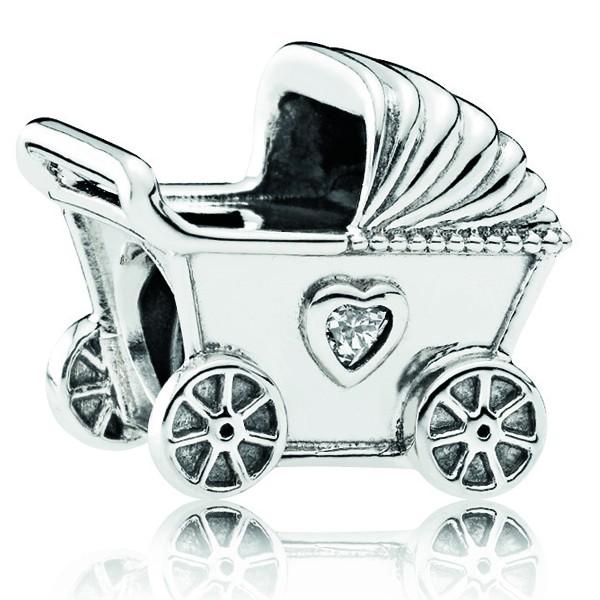 PANDORA Charm Kinderwagen 792102CZ