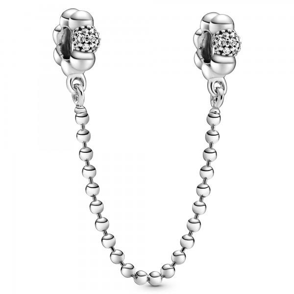 Perlen- und Pavé Komfortkette PANDORA Sicherheitskette 798680C01