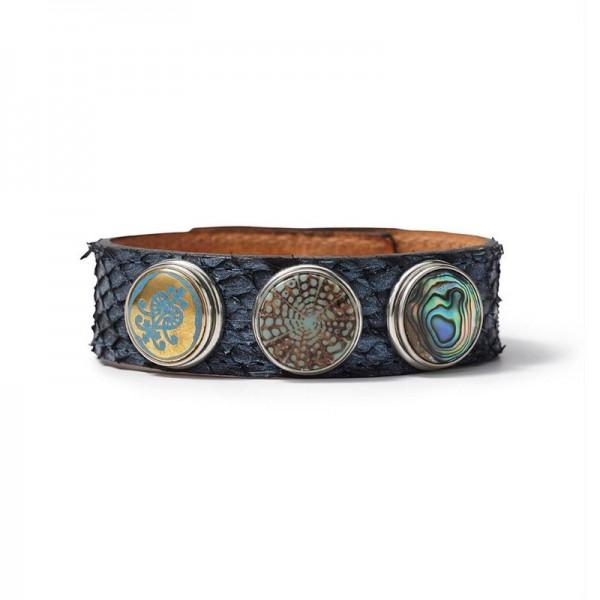Noosa Armband Blau Schlange WCS-450-22