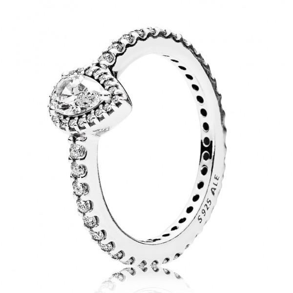 PANDORA Strahlender Tropfen Ring 196254CZ