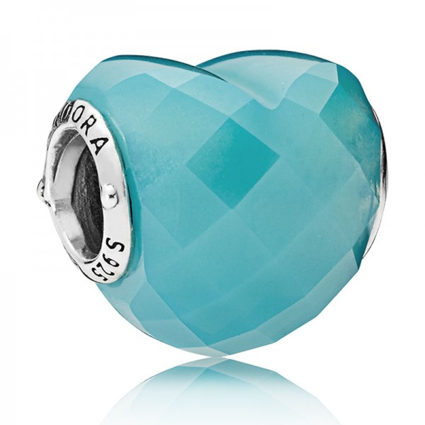 PANDORA Blue Shape of Love Charm 796563NSC