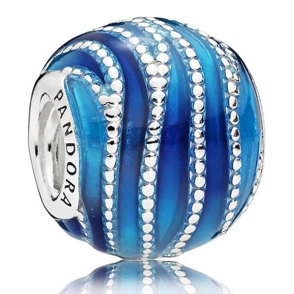 PANDORA Charm Blue Swirls 797012ENMX