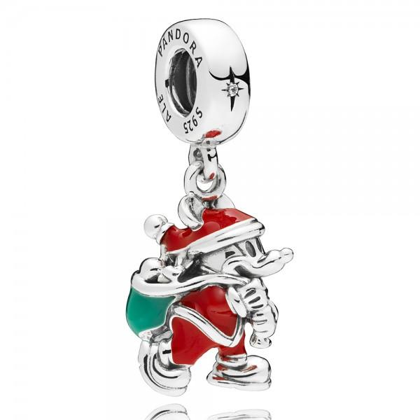 Disney Mickey Santa PANDORA Charm-Anhänger silber 797501ENMX