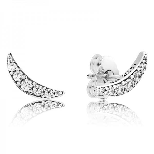 Mond silber PANDORA Ohhringe Moon silver stud earrings 297569CZ