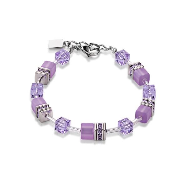 Coeur De Lion Geo Cube Armband Flieder 4322300829