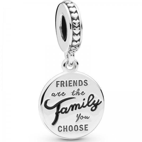Friends are Family PANDORA Dangle Charm-Anhänger 798124EN16