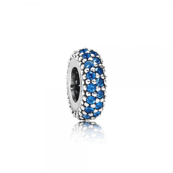 PANDORA Pave-Inspiration blau, Silber 791359NCB