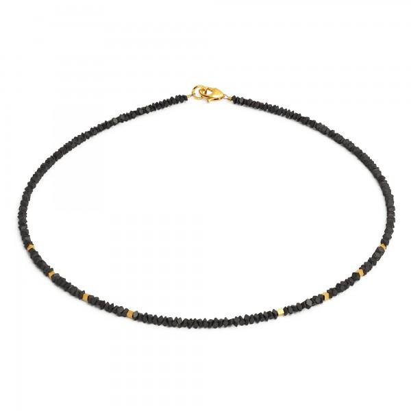 84434276 Rabea Designlinie Specials Halskette mit edlem Hämatin und 24 Karat Goldplattierung