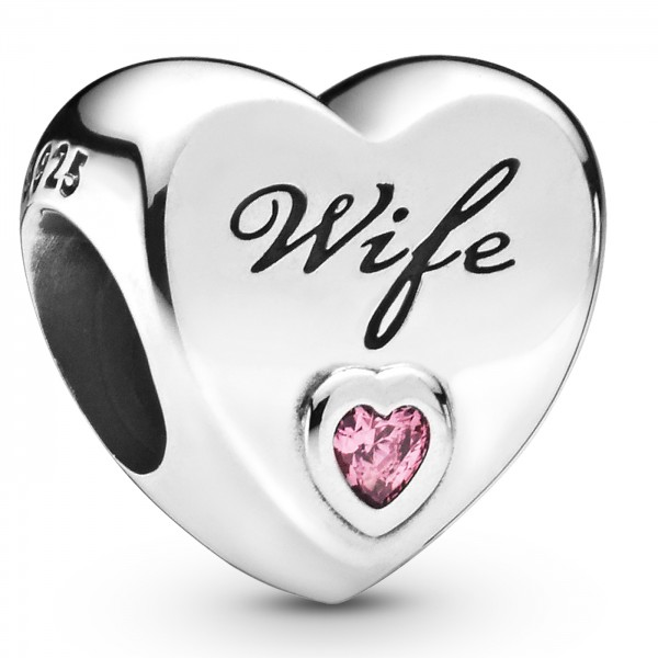 Wife Love Heart PANDORA Charm 798249PCZ