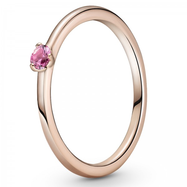 Rosafarbener PANDORA Solitär-Ring 189259C03