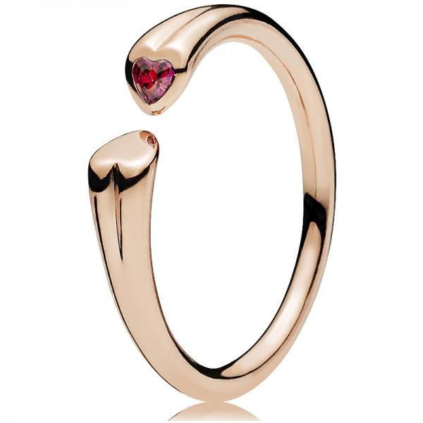 PANDORA Ring Zwei Herzen 186570CZ