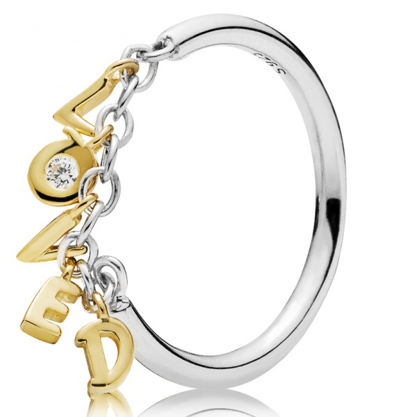 Loved PANDORA Shine and silver ring with clear cubic zirconia 167799CZ