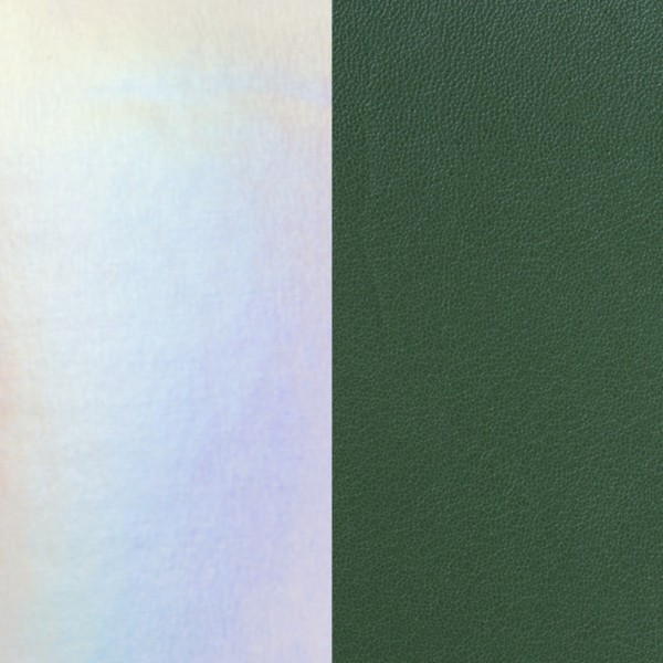 Les Georgettes Ledereinsatz Silber schillernd -Grün 14mm-25mm-40mm