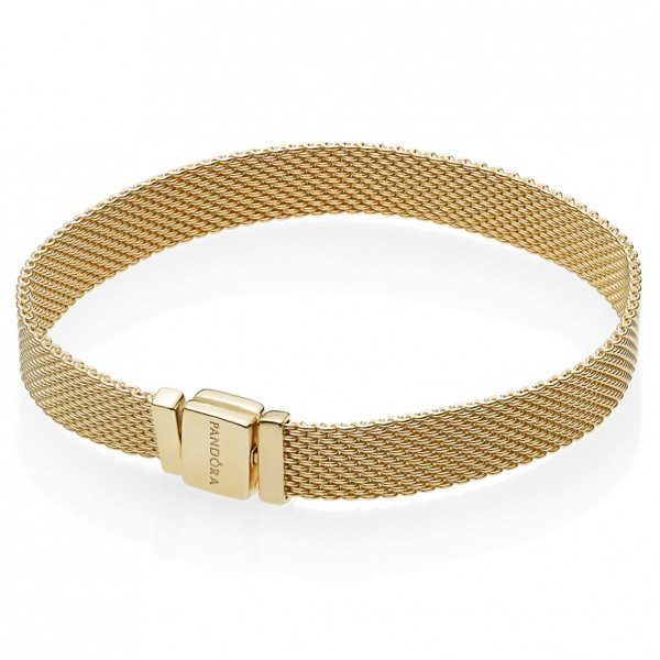 Pandora SHINE Reflexions Mesh Armband 18 Karat vergoldetes Sterling-Silber 567712