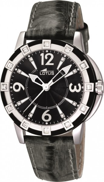 Lotus Damen Armbanduhr 15745/4 Damenuhr mit Lederarmband
