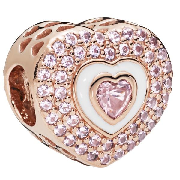 Heart on Hearts PANDORA ROSE Herz Charm 788097NPR