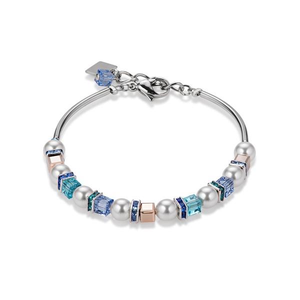 Coeur De Lion Armband Swarovski® Kristall & Crystal Pearls frontline blau 4815300700