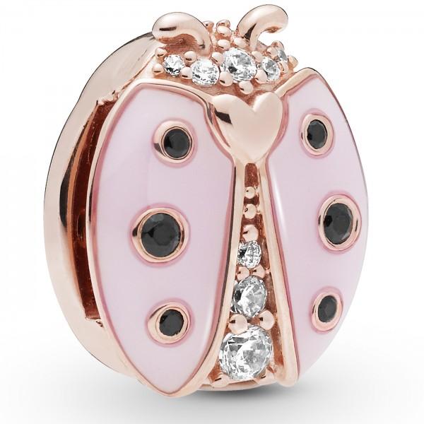 Pink Ladybird Clip PANDORA REFLEXIONS ROSE Charm 787970EN160