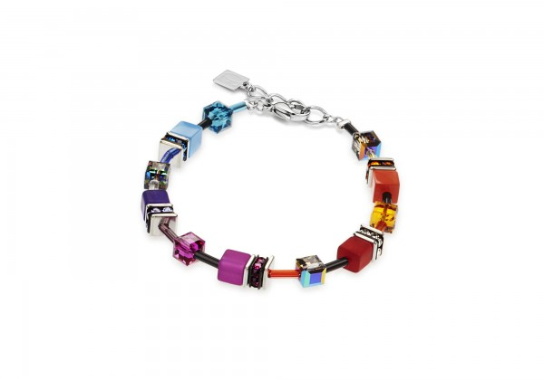 Coeur De Lion Geo Cube Armband multicolor rainbow 2838/30-1520