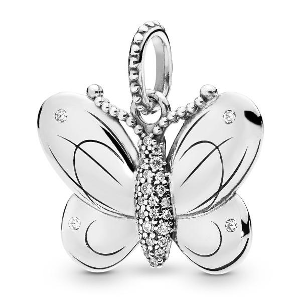 Butterfly Schmetterling Pandora Halskettenanhänger 397933CZ