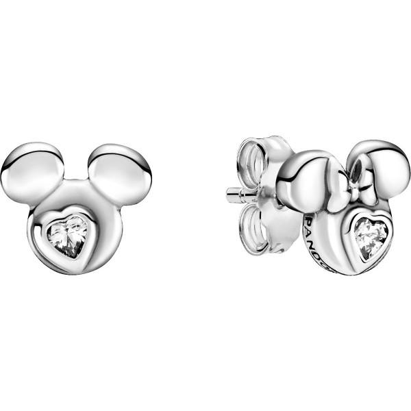 Disney Micky Maus & Minnie Maus Silhouetten PANDORA Ohrringe 299258C01