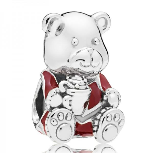 Weihnachts Teddy PANDORA Charm Christmas teddy bear 797564ENMX