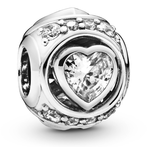 Elevated Heart Herz PANDORA Charm 925er Sterlingsilber 798464C01