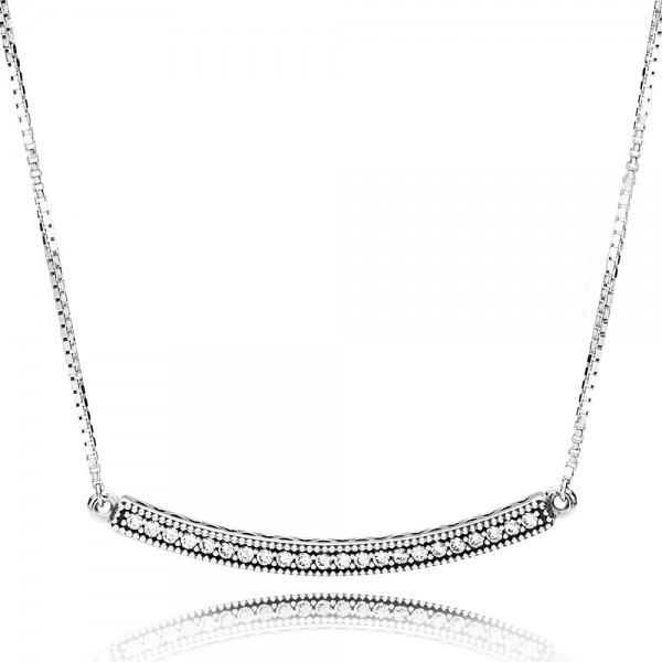 PANDORA Halskette Hearts of PANDORA Bar Necklace 397420CZ-50