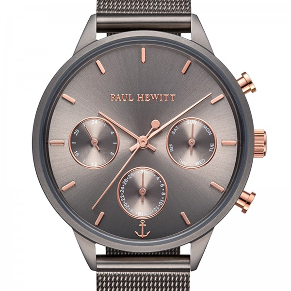 PAUL HEWITT Everpulse Herrenuhr Grey Metallic mesh PH-E-GrM-GrM-52S
