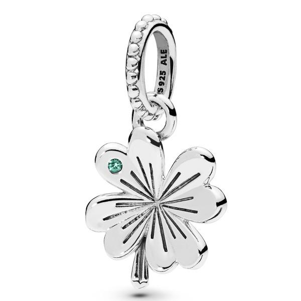 Lucky Four-Leaf Clover Kleeblatt PANDORA Halskettenanhänger 397965NAG