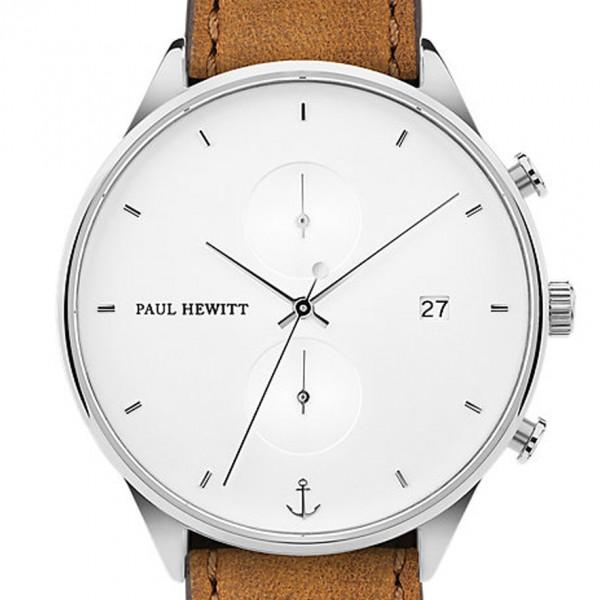 PAUL HEWITT Chronograph Herren oder Damen Chrono Line White Sand ph-c-s-w-49m