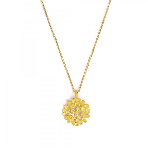 85394156 Liandra Designlinie Flowertimes mit funkelndem Zirkonia und 24 Karat Goldplattierung
