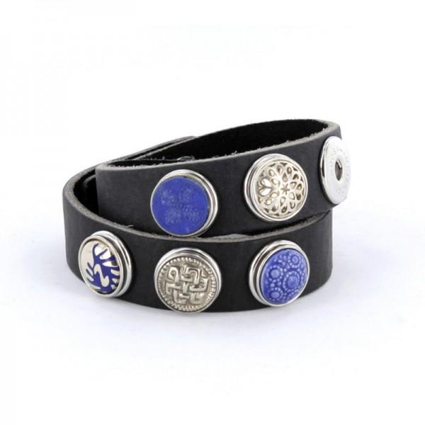 Noosa Armband antikschwarz doppelt gewickelt WDS-060-05-22