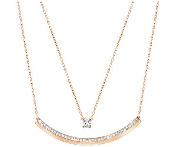 Swarovski Fresh Halskette, Weiss, Rosé Vergoldung 5225438