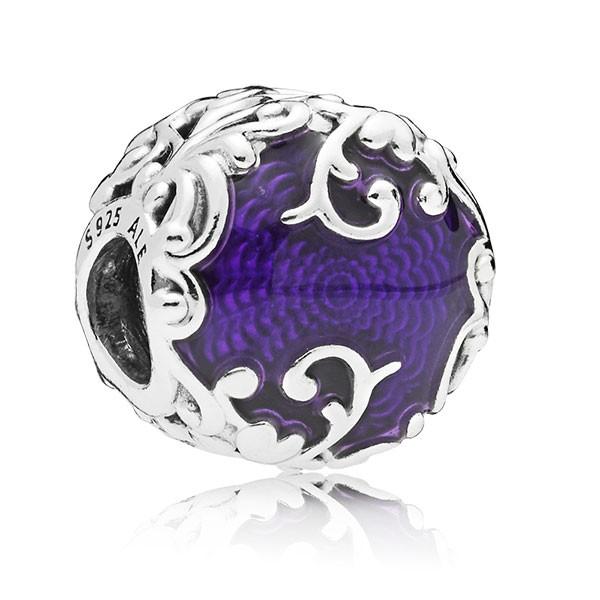 PANDORA Charm Regal pattern silver 797607EN13