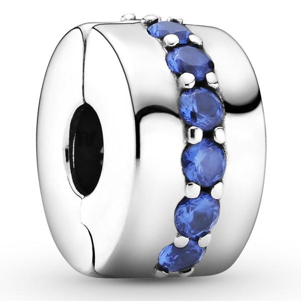 Blaues Funkelndes PANDORA Clip-Charm 791972C01