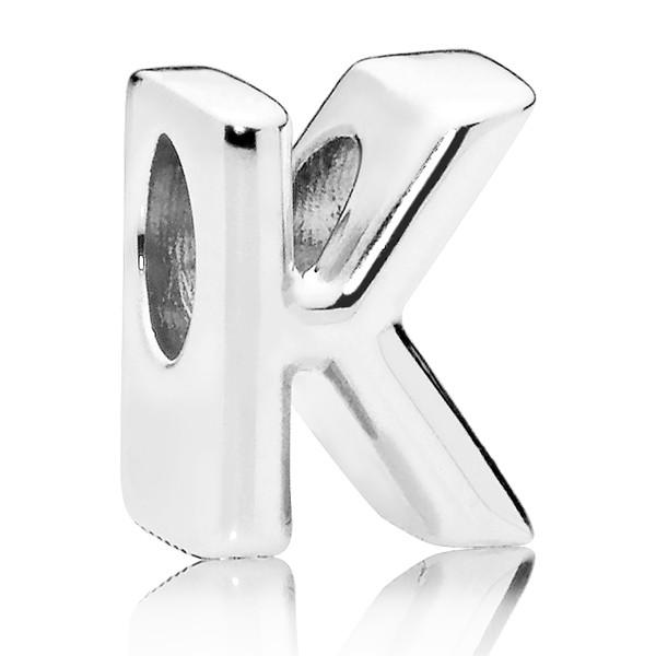 PANDORA Buchstabe Letter K silver charm 797465