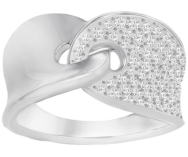 Swarovski Guardian Ring, White, Rhodium Plating 5295001 Weite: 58