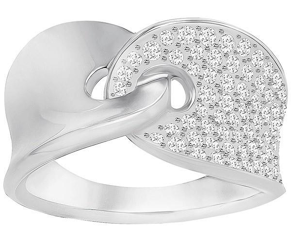Swarovski Guardian Ring, White, Rhodium Plating 5295001 Weite: 58