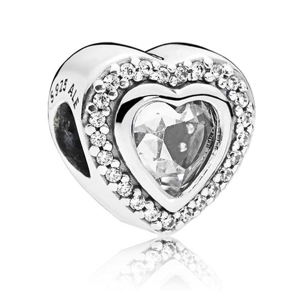 PANDORA Charm Heart silver 797608CZ