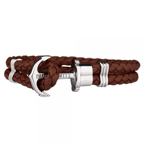 PAUL HEWITT PHREP Silber Anker Armband Braun PH-PH-L-S-Br-S